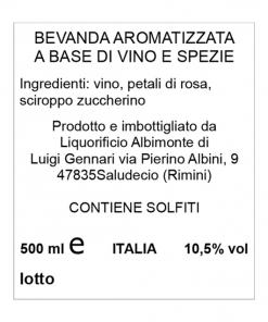 Rosatum vino speziato alla rosa
