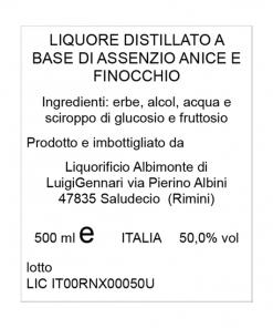 Absinthia bottiglia da 50 cL - Liquorista Albimonte