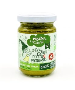 Baby Food Cremina di Spinaci, Pisellini, Ricotta e Parmigiano - Pralina